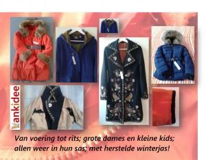 Winterjassen collage